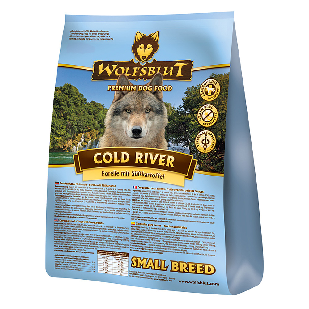 Wolfsblut Small Breed Cold River Trockenfutter 500 g